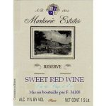 Markovic Estates Sweet Red Reserve Label Adel