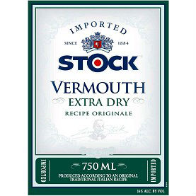 Stock Vermouth Extra Dry Label Adel