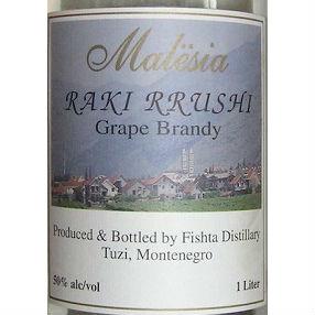 Malesia Raki Rrushi brandy