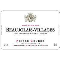 Pierre Gruber Beaujolais Villages Label