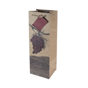 True Illustrated Grapes Wine Gift Bag