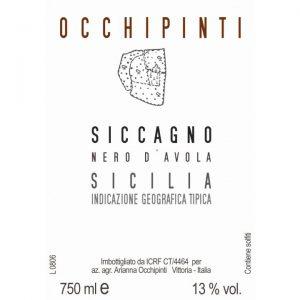 Arianna Occhipinti Siccagno Nero d'Avola Label