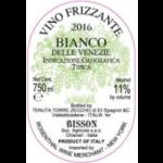"""Bisson """"Bianco delle Venezie"""" Vino Frizzante Trevigiana"""