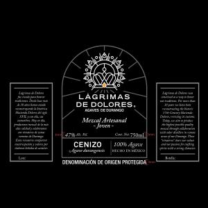 Lágrimas de Dolores Cenizo Mezcal Ancestral Joven Label-2
