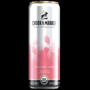 Crook and Maker Straberry and Lemon Hard Seltzer