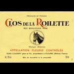 Clos de la Roilette Fleurie Label