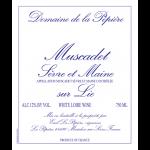 Muscadet de Sèvre et Maine Sur Lie Domaine de la Pépière 2019