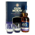 Glen Moray Elgin Classic Sherry Cask Finish Single Malt Scotch Whisky with Glasses